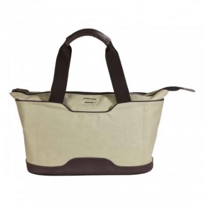 сумка через плечо QUER Q18 серая кожа+текстиль 882600-288
