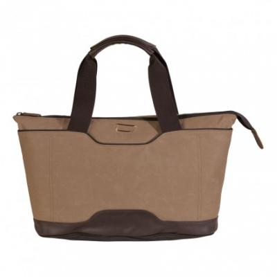 сумка через плечо QUER Q18 коричневая кожа+текстиль 882600-403