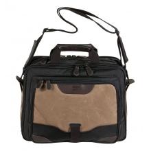 сумка через плечо QUER Q28 коричневая кожа+текстиль 883600-403