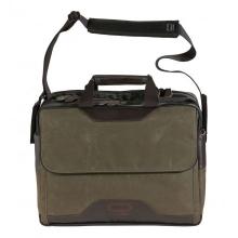 """Сумка для ноутбука QUER 17""""NEU темно-оливковая кожа+текстиль 882400-401"""