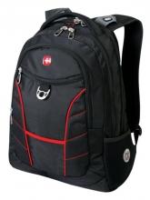 Рюкзак Wenger, чёрный/красный, полиэстер, 35х20х47 см, 33 л 1178215