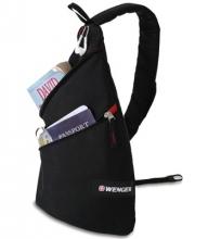 Рюкзак Wenger с одним плечевым ремнем, черный/красный, 25x15x45 см, 17 л 18302130