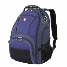 Рюкзак Wenger, синий/чёрный, полиэстер 900D/хонейкомб, 35x19x44 см, 29 л 3181303408