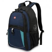 Рюкзак Wenger, синий/черный/бирюзовый, полиэстер 600D/2 мм рипстоп/фьюжн, 33x15x45 см, 22 л 3191203408