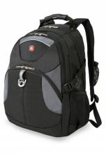 Рюкзак Wenger, чёрный/серый, полиэстер, 34х17х47, 26 л 3259204410