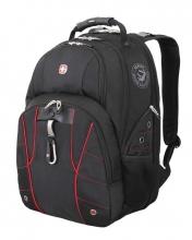 Рюкзак Wenger, чёрный/красный, полиэстер 900D/600D/искуственная кожа, 34x18x47 см, 29 л 6939201408