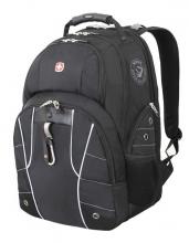 Рюкзак Wenger, чёрный/серебристый, полиэстер 900D/600D/искуственная кожа, 34x18x47 см, 29 л 6939204408