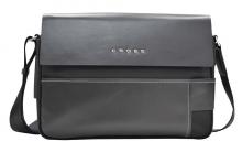 Сумка наплечная, Cross Seville,кожа наппа гладкая+ткань, цвет чёрный, 35 х 25 х 9 см