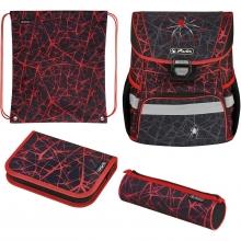 Ранец  Herlitz LOOP PLUS 50032518 Spider с наполнением 4 предмета + подарок.