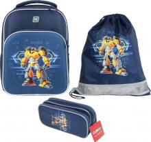 Рюкзак MagTaller S-Cool Robot 41013-70 с наполнением 3 предмета.