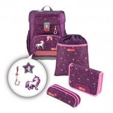 Ранец школьный Hama Step By Step CLOUD Dreamy Unicorn - Волшебный Единорог 00183689 с аксессуарами 5 предметов.